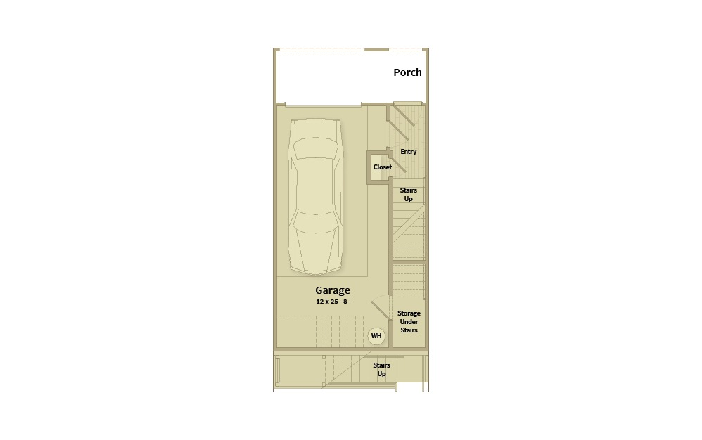 A2A - 1 bedroom floorplan layout with 1.5 bath and 1056 square feet. (Floor 1)