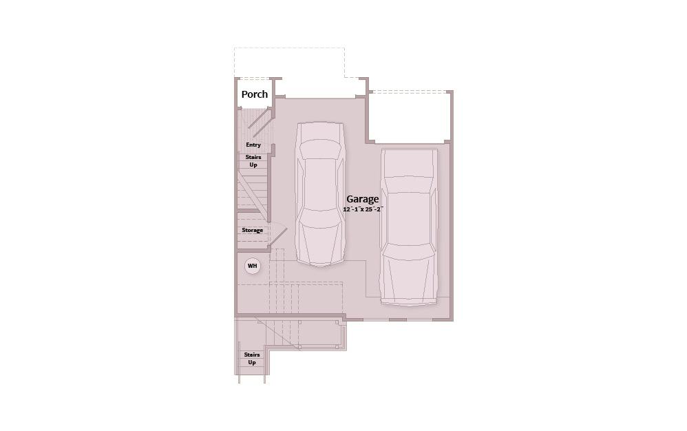 B3B - 2 bedroom floorplan layout with 2.5 baths and 1506 square feet. (Floor 1)