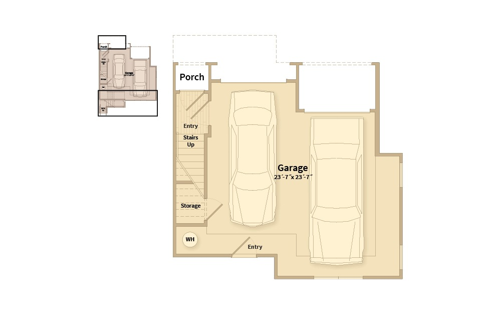 B3C - 2 bedroom floorplan layout with 2.5 baths and 1548 square feet. (Floor 1)