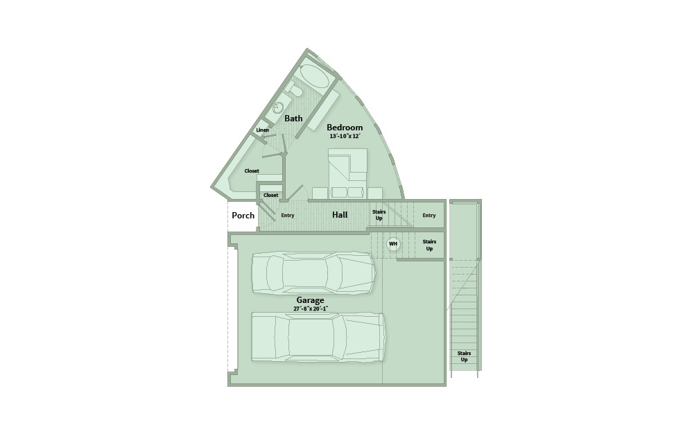 C4A - 3 bedroom floorplan layout with 3.5 baths and 2257 square feet. (Floor 1)