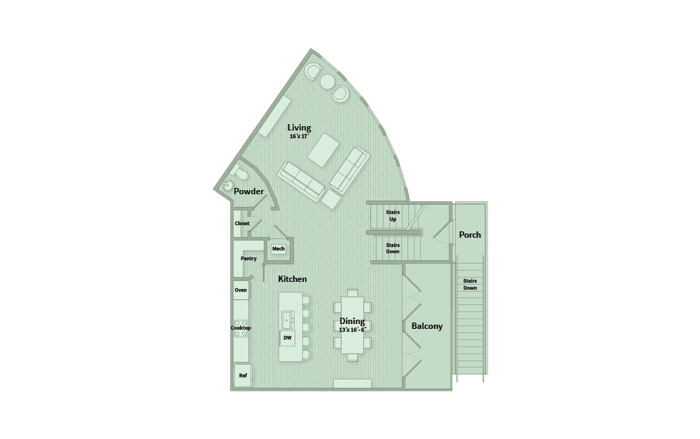 C4A - 3 bedroom floorplan layout with 3.5 baths and 2257 square feet. (Floor 2)
